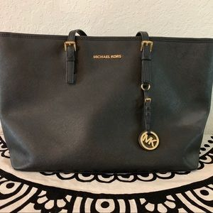 Michael Kors Leather Laptop Tote Bag